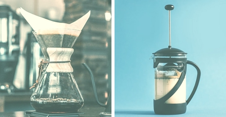 two different products in brewing fresh coffee