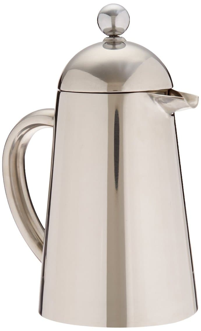 silver coffee container
