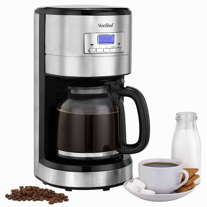 Single Cup Coffee Maker Uses Grounds : The Best 12 Cup Coffee Makers When You Need a Whole Lotta Joe - Home Grounds