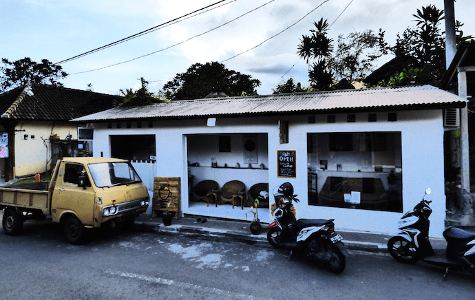 Juria coffee house from outside