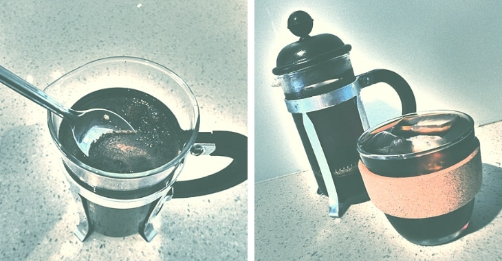 cold brewed coffee served with ice
