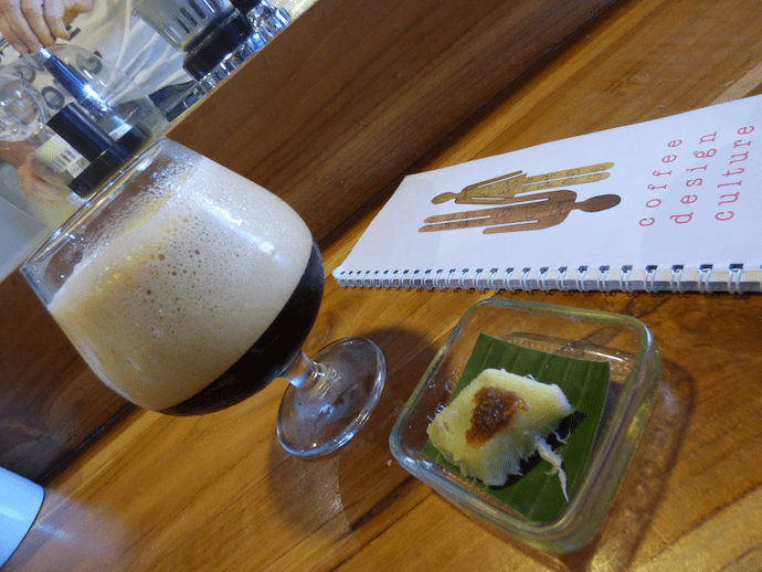 Coffee and cake from seniman cofee