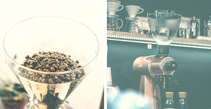 two different kinds of grinder in making coffee