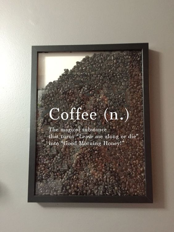 The perfect gift for coffee lovers: a coffee frame