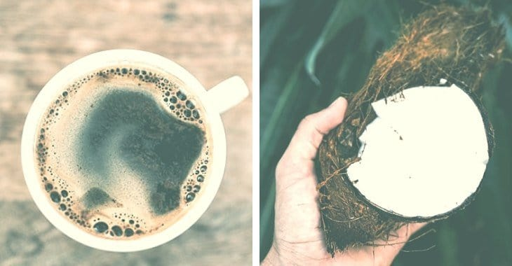 coconut oil as an ingredient to coffee