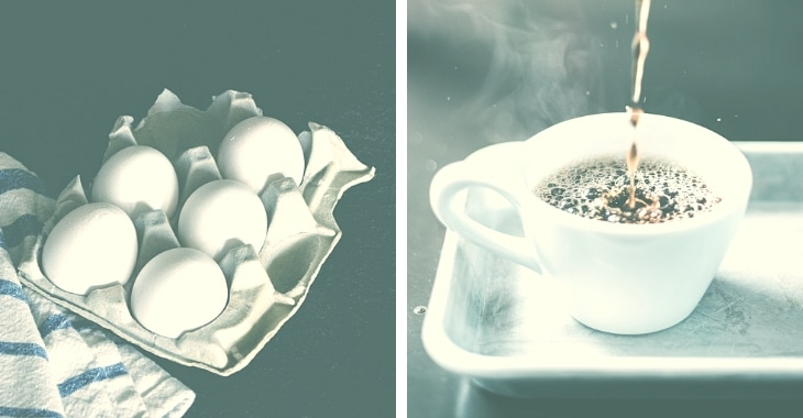eggs as an additional ingredient in making coffee