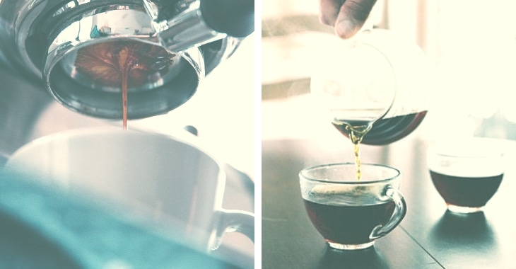 brewed coffee served fresh and hot