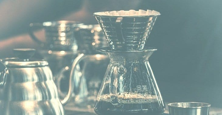 a finished brewed coffee