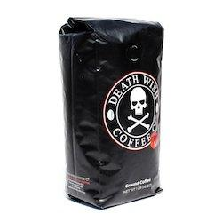 Side view of death wish coffee