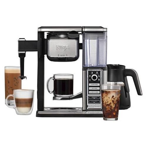 Ninja Coffee Bar CF091 and glasses of coffee