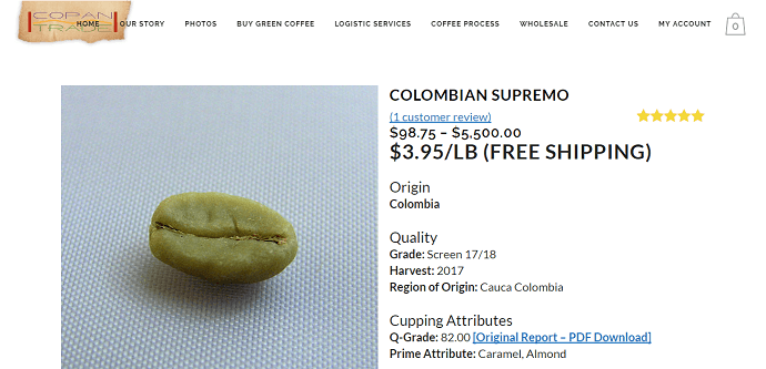 Copan Trade home page