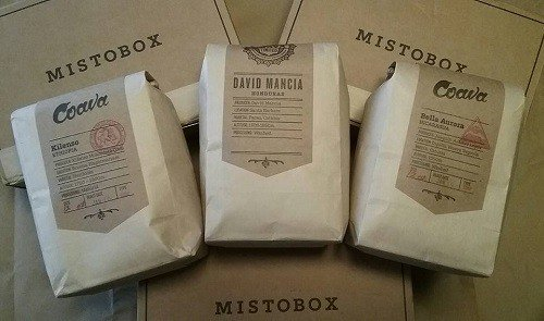 Bags of online coffee delievered from mistobox