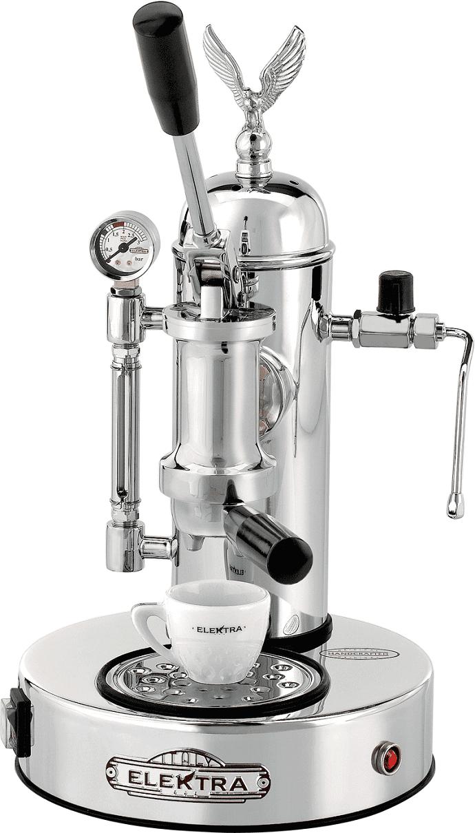 La pavoni europiccola chrome epc-8 manual espresso machine.