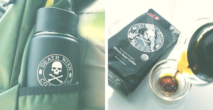 a brand of dark coffee