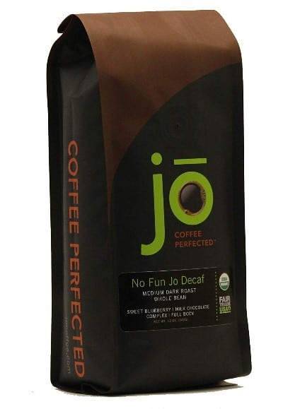 A pack of No Fun Jo Decaf