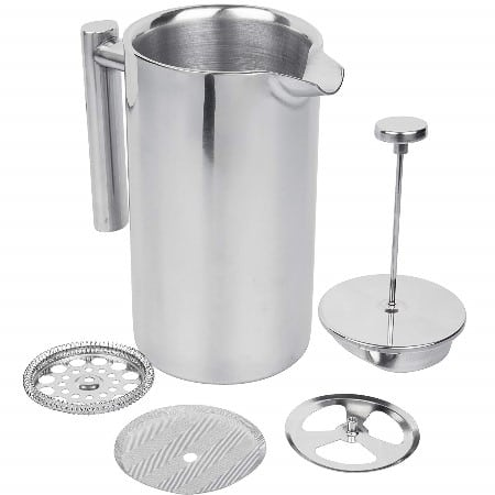 Stainless steel kuissential french press