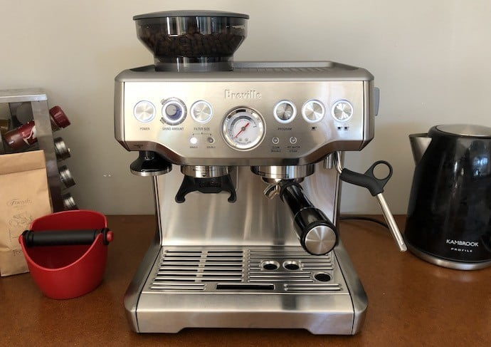 The Barista Express. The most popular type of espresso machine: a semi-automatic machine