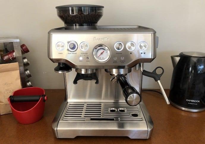 The Barista Express. The most popular type of espresso machine: a semi-automatic machine