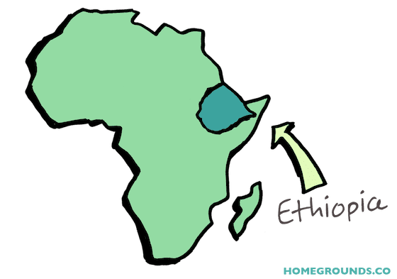 an illustration of ethiopia's geographical location in africa