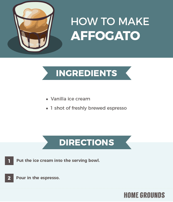 Instruction on how to make affogato