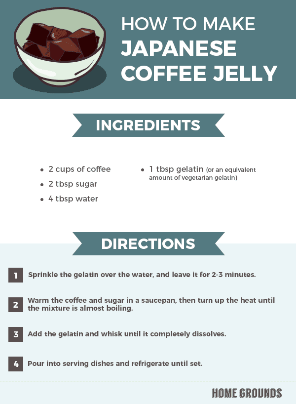 Recipe on how to make Japanese Coffee Jelly