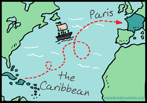 How coffee made it to the carribean