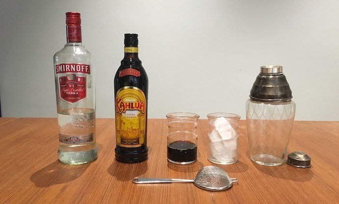 Ingredients of Cold Drip Espresso Martini