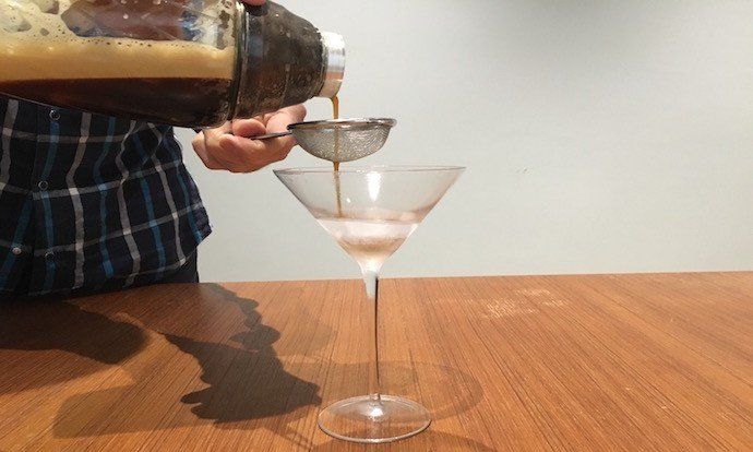 making of Cold Drip Espresso Martini
