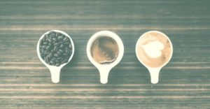 the evolution of coffee from coffee beans into a ready to serve coffee