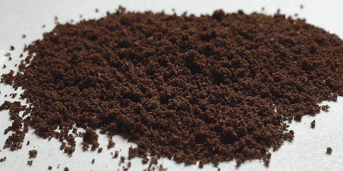 fine grind coffee on a flat surface - also known as espresso grind