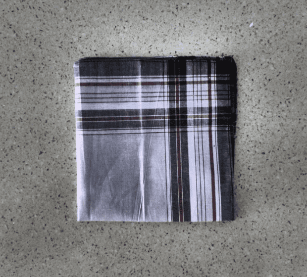 Folded square handkerchief