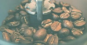 Grinding a coffee beans