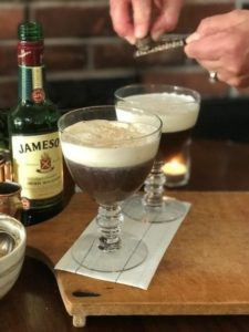 Garnishing the cocktail
