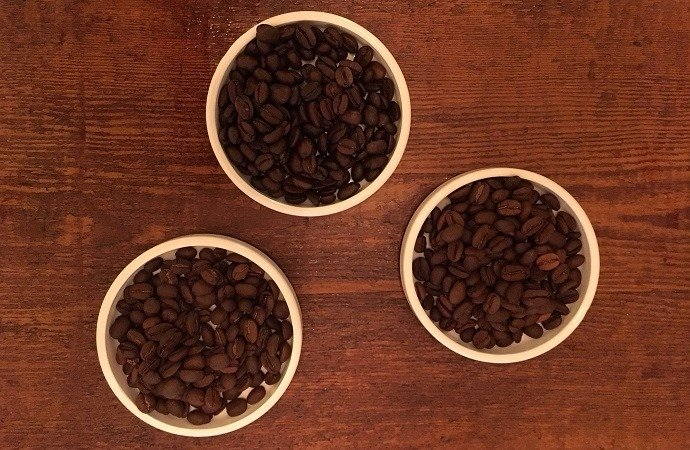 Different roasts for black coffee