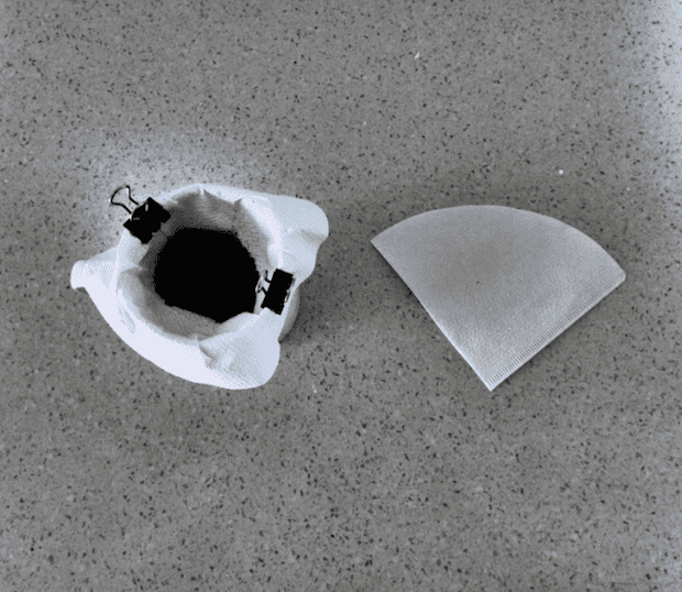 Using a hario filter