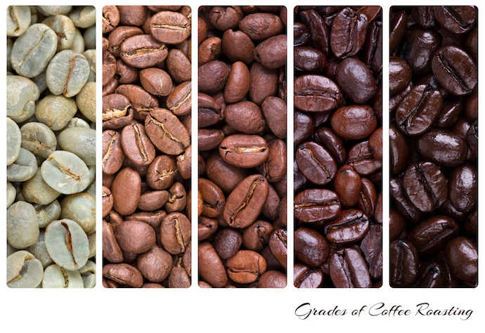 Coffee Bean Stages During Roast