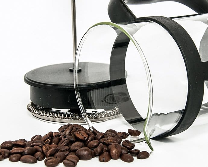 Beans in a French Press