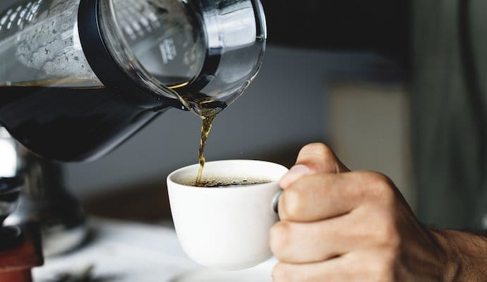 Drip coffee being poured