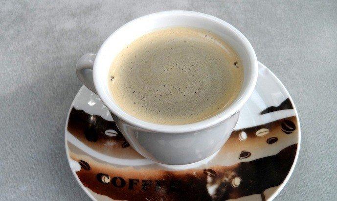 Espresso with crema on top