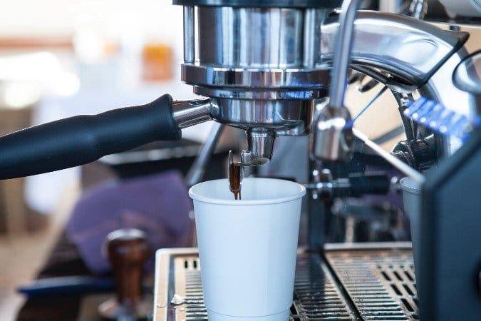 a photo of the espresso-making process