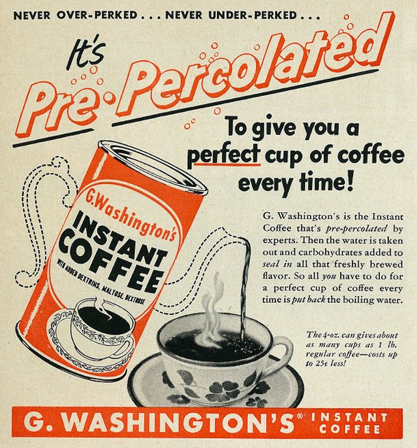 Vintage instant coffee advert