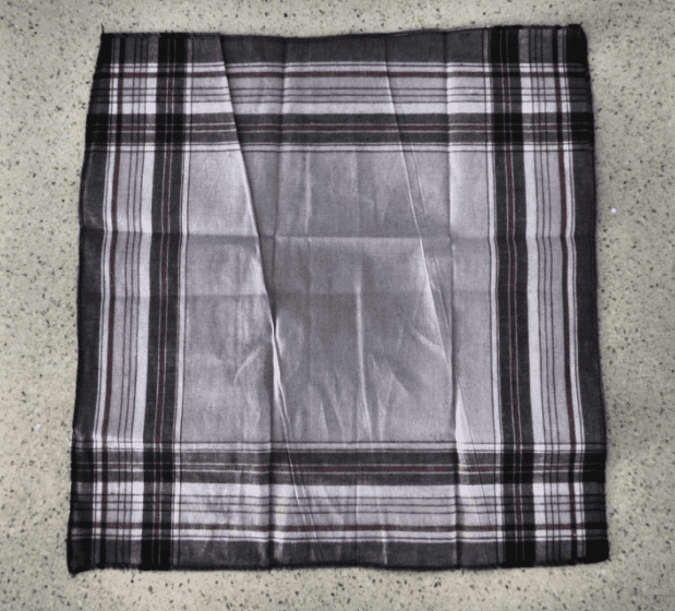 Unfolded handkerchief