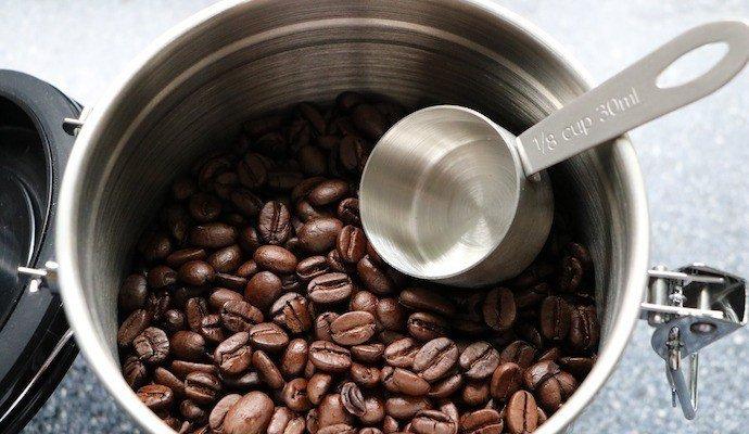 jar of fresh coffee beans