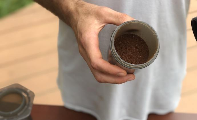 medium fine coffee grinds for aeropress instructions