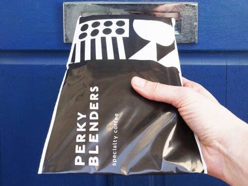 perky blenders mailing bag
