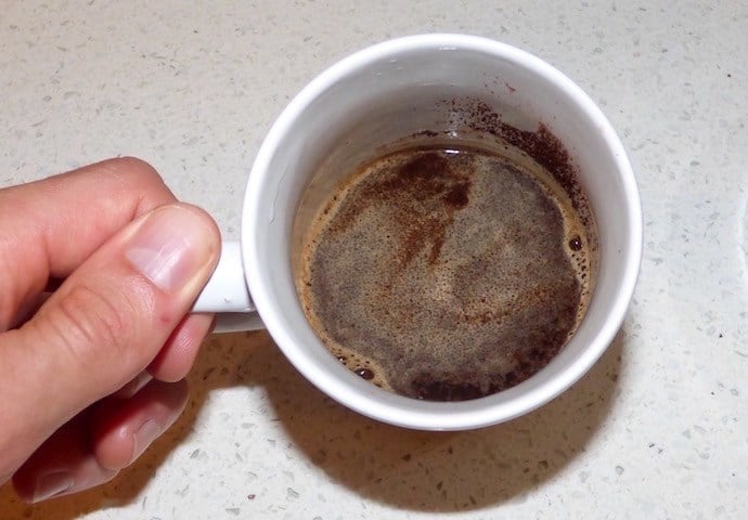 Brewing coffee in first cup