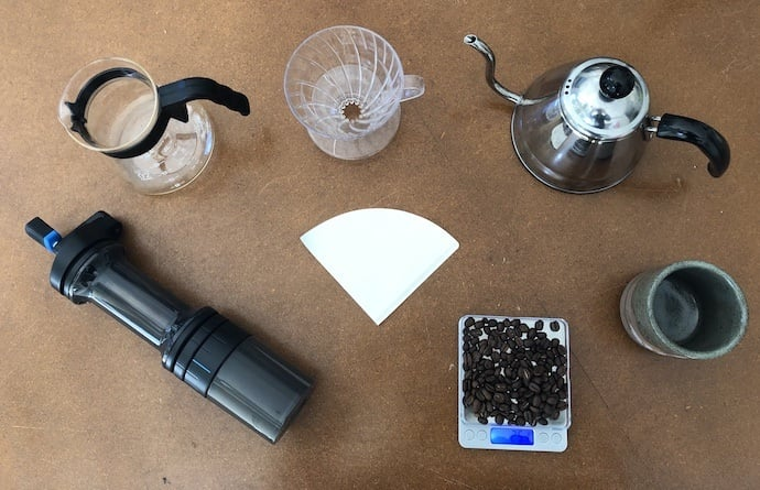 What you need for to make hario pour over coffee