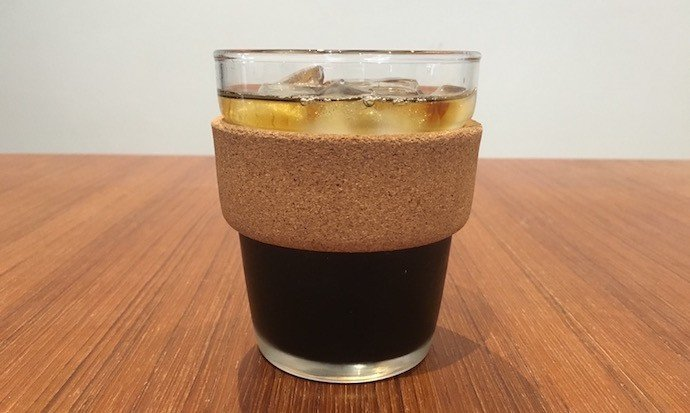 Glass cup of cold brew coffee made with the best cold brew coffee maker