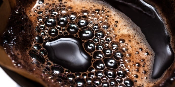 bubbles forming in brewed coffee