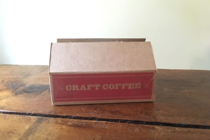 the Craft Coffee Box on a wooden table